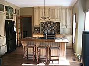 Armoires de cuisine en bois massif