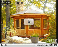 Gazebo de luxe, maison et abris de jardin en bois de pin