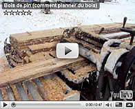 Plannage de bois de pin